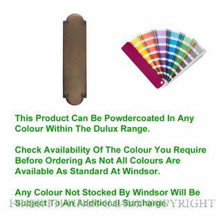 WINDSOR 5059 PC PUSH PLATE - 205MM X 50MM POWDER COAT