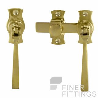WINDSOR 5139 UB FRENCH DOOR CATCH SQUARE UNLACQUERED BRASS