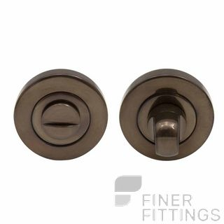 WINDSOR BRASS 8188 AB PRIVACY TURN & RELEASE - 50MM ROSE ANTIQUE BRONZE