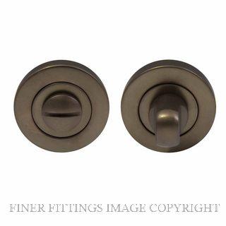 WINDSOR BRASS 8188 MAB PRIVACY TURN & RELEASE - 50MM ROSE MATT ANTIQUE BRONZE