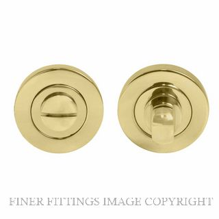 WINDSOR BRASS 8188 UB PRIVACY TURN & RELEASE - 50MM ROSE UNLACQUERED BRASS