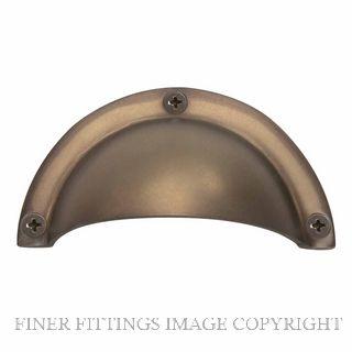 WINDSOR 5018 MAB HOODED PULLS 86 X 44MM MATT ANTIQUE BRONZE