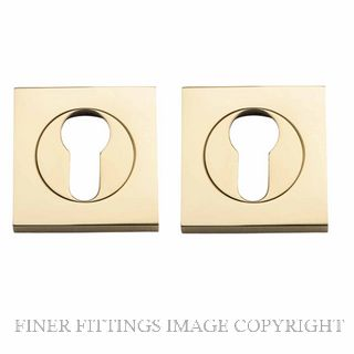 TRADCO 20020 SQUARE EURO ESCUTCHEON 52MM POLISHED BRASS