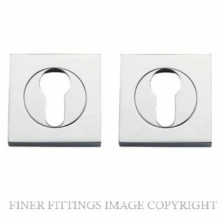 TRADCO 20024 SQUARE EURO ESCUTCHEON 52MM CHROME PLATE