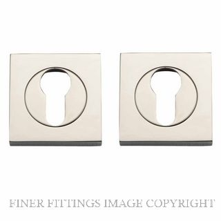 TRADCO 20028 SQUARE EURO ESCUTCHEON 52MM POLISHED NICKEL