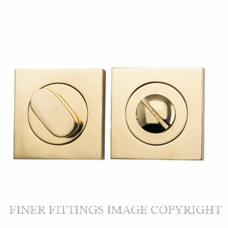 TRADCO 20030 SQUARE PRIVACY SET 52MM POLISHED BRASS