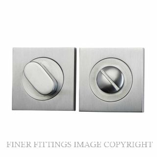 TRADCO 20035 SQUARE PRIVACY SET 52MM SATIN CHROME