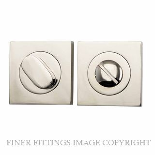 TRADCO 20038 SQUARE PRIVACY SET 52MM POLISHED NICKEL