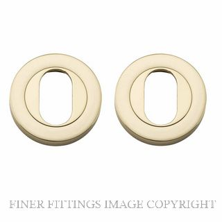 TRADCO 20060 ROUND OVAL ESCUTCHEON 52MM POLISHED BRASS