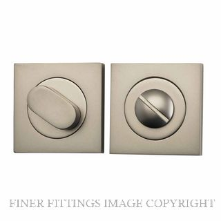 TRADCO 20039 SQUARE PRIVACY SET 52MM SATIN NICKEL