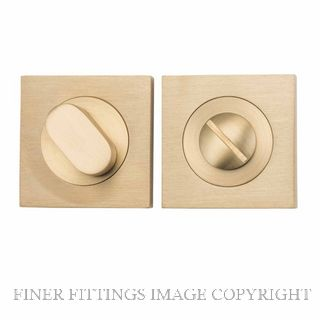 TRADCO 20040 SQUARE PRIVACY SET 52MM SATIN BRASS