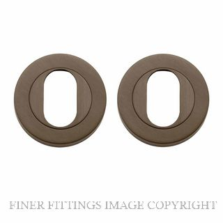 TRADCO 20061 ROUND OVAL ESCUTCHEON 52MM ANTIQUE BRASS