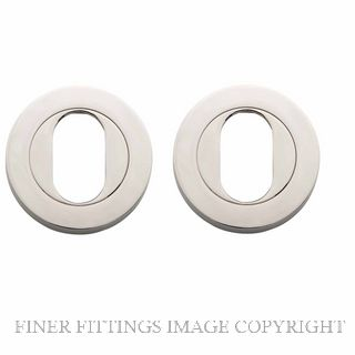 TRADCO 20068 ROUND OVAL ESCUTCHEON 52MM POLISHED NICKEL