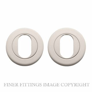 TRADCO 20069 ROUND OVAL ESCUTCHEON 52MM SATIN NICKEL
