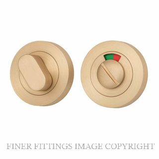 TRADCO 20076 ROUND INDICATING PRIVACY SET 52MM SATIN BRASS