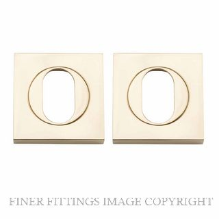 TRADCO 20100 SQUARE OVAL ESCUTCHEON 52MM POLISHED BRASS