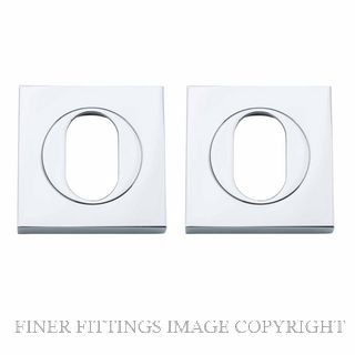 TRADCO 20104 SQUARE OVAL ESCUTCHEON 52MM CHROME PLATE