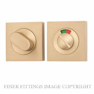 TRADCO 20116 SQUARE INDICATING PRIVACY SET 52MM SATIN BRASS