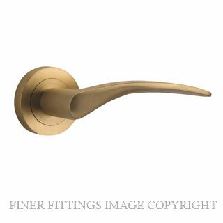 TRADCO 9364 OXFORD LEVER ON ROSE SATIN BRASS