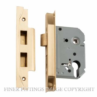 TRADCO 4052 - 4053 REBATED EURO LOCKS SATIN BRASS