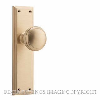 TRADCO 6646 - 6648 MILTON KNOB ON PLATE SATIN BRASS