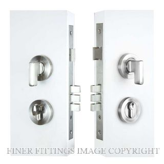 WINDSOR BRASS 1364 MINI TURN ENTRANCE LOCK KIT ROUND 60MM BRUSHED NICKEL