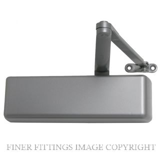 LCN 4041 XP HOLD OPEN SILVER DOOR CLOSER SILVER GREY