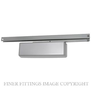 LCN 4041XPT SILVER TRACK ARM CLOSER SILVER GREY
