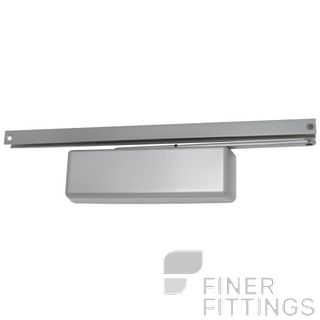 LCN 4041XPT HOLD OPEN SILVER TRACK CLOSER SILVER GREY