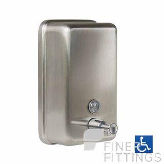 METLAM ML605AS N VERTICAL LIQUID SOAP DISPENSER SATIN STAINLESS