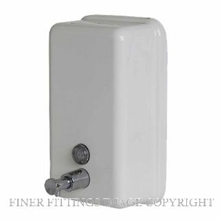 METLAM ML605W VERTICAL LIQUID SOAP DISPENSER WHITE POWDER COAT