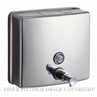 METLAM ML603AS SQUARE LIQUID SOAP DISPENSER SATIN STAINLESS