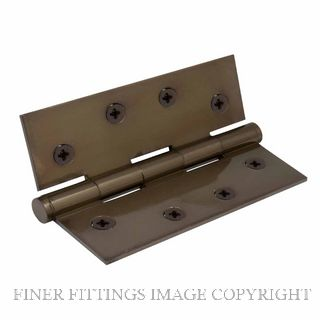 WINDSOR 5902 AB HINGE BRASS FIXED PIN BALL TIP 102X76 ANTIQUE BRONZE