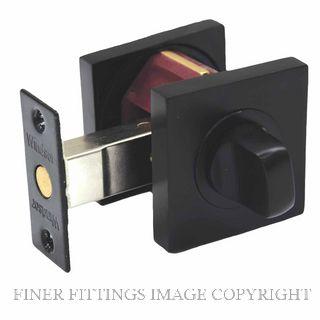 WINDSOR 9044 BLK SQUARE 55MM PRIVACY SET 60MM BOLT MATT BLACK