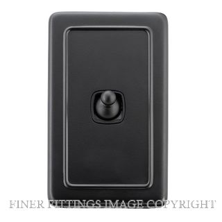 TRADCO 5352 SWITCH-TOGGLE-1 GANG MB BL 72X115 MATT BLACK
