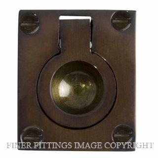 WINDSOR BRASS 5154-5177 FLUSH RINGS ANTIQUE BRONZE