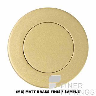 WINDSOR BRASS 5154-5177 FLUSH RINGS MATT BRASS