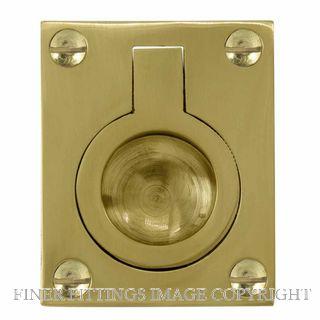WINDSOR BRASS 5154-5177 FLUSH RINGS UNLACQUERED BRASS