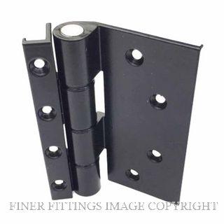 FFHD1369 HINGE - FAIRVIEW OPEN IN TIMBER DOOR HINGE 16MM BLACK