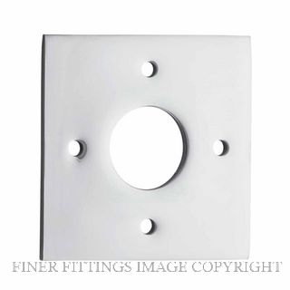 TRADCO 0244 ADAPTOR PLATE SQUARE - SUIT 54mm HOLE (SOLD AS A PAIR) CHROME PLATE