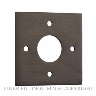 TRADCO 0241 ADAPTOR PLATE SQUARE - SUIT 54mm HOLE (SOLD AS A PAIR) ANTIQUE BRASS