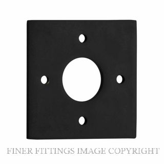TRADCO 0243 ADAPTOR PLATE SQUARE - SUIT 54mm HOLE (SOLD AS A PAIR) BLACK