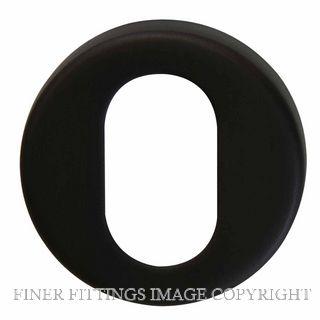 WINDSOR BRASS 8003O OVAL PROFILE ESCUTCHEON MATT BLACK