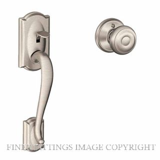 SCHLAGE SRE60089 CAMELOT-GEORGIAN PULL HANDLE SET SATIN NICKEL