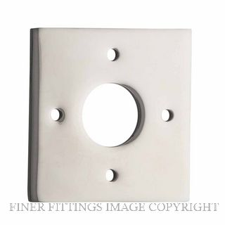 TRADCO 0248 ADAPTOR PLATE SQUARE - SUIT 54mm HOLE (SOLD AS A PAIR) POLISHED NICKEL