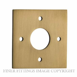 TRADCO 0251 ADAPTOR PLATE SQUARE - SUIT 54mm HOLE (SOLD AS A PAIR) SATIN BRASS
