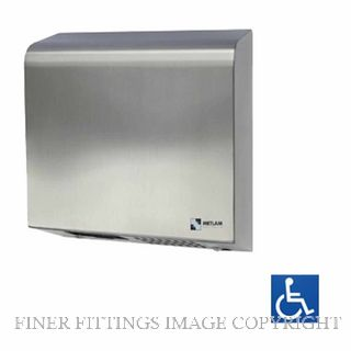 METLAM ML 100N SS SLIMLINE AUTOMATIC OPERATION HAND DRYER SATIN STAINLESS