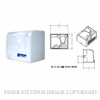 METLAM ML 1800 WHT AUTOMATIC OPERATION HAND DRYER WHITE POWDER COAT