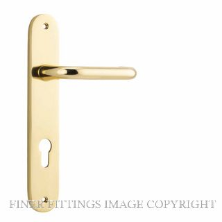 TRADCO 10346 OSLO OVAL LEVER ON PLATE HANDLES POLISHED BRASS
