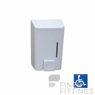 METLAM ML655 LIQUID SOAP DISPENSER 600ML CAPACITY WHITE ABS